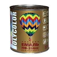 """Эмаль алкидная ПФ-266 красно-коричневая для пола ТМ """"POLYCOLOR"""" 2.8кг"""