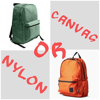 Какой рюкзак выбрать: из нейлона или холщовой ткани