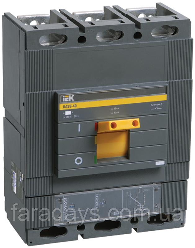 Автоматичний вимикач 3р, 35кА, 320-800A,  з електронним розчіплювачем  (ВА88-40 з розч. МР211 IEK)