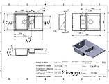 Кухонна мийка Miraggio LaPas Gray, фото 6