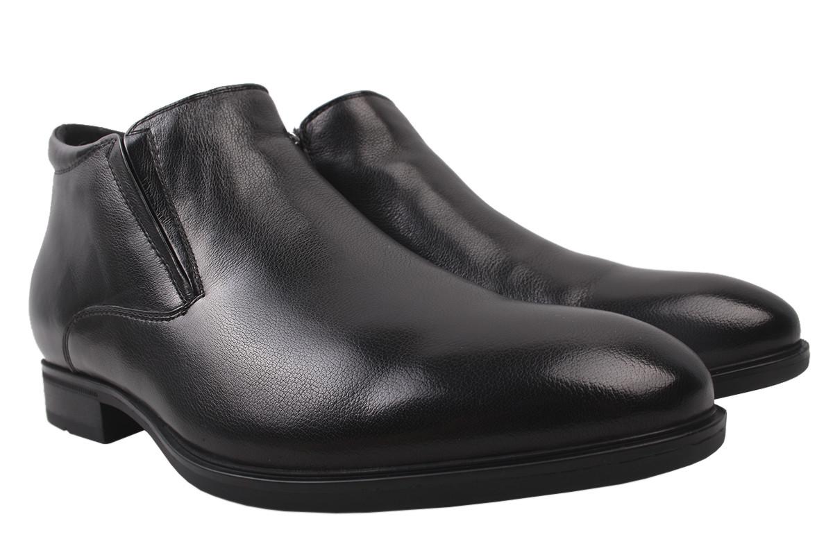 Черевики чоловічі Salenor зимові, натуральна шкіра, колір чорний, розмір 40-45