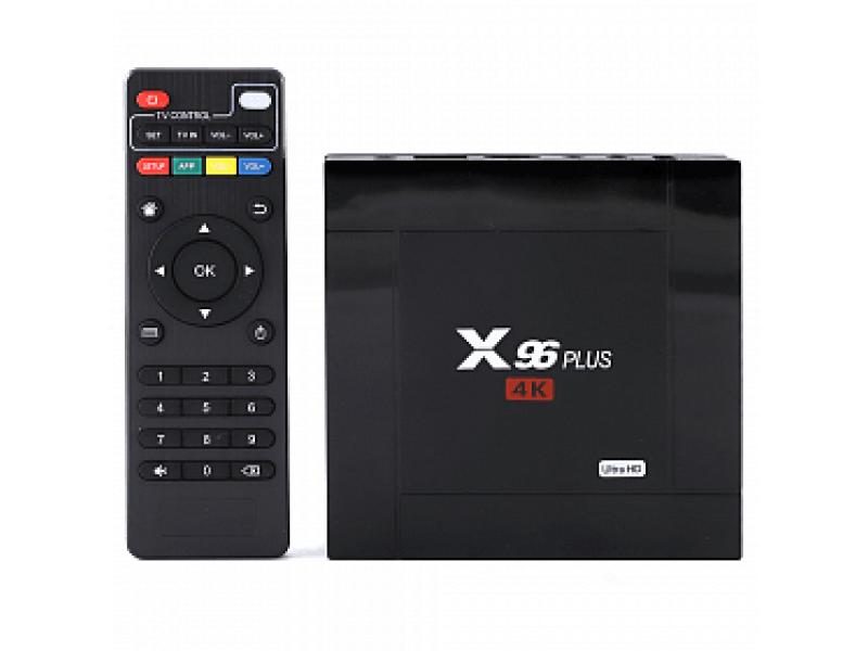 Смарт-приставка Smart TV Box X96 Plus Ultra Hd медиаплеер Android 7.1 Smart 4k Wifi 2Gb Ram 16Gb Rom Черный