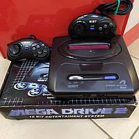 Игровая, приставка, сега, sega, mega drive, 2, с встроенными 123 самыми популярными играми.