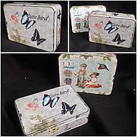 Металлическая коробка для подарков, 5х17.5х12.5 см., 90 гр.