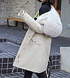 Куртка парка зимняя женская (бежевая), фото 5