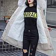 Куртка парка зимняя женская (бежевая), фото 4