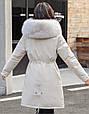 Куртка парка зимняя женская (бежевая), фото 2
