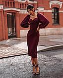 Нарядное женское платье чёрный темно синий бордо 42 44 46, фото 2