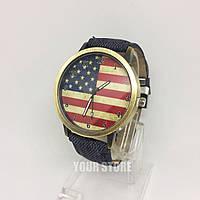Женские оригинальные часы наручные с флагом Америки