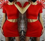Молодежный костюм короткий топ+юбка, 4 цвета, (40-46), фото 4