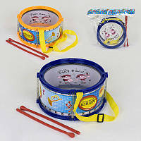 Барабан 3512 (64/2) 2 цвета, 2 палочки, в кульке
