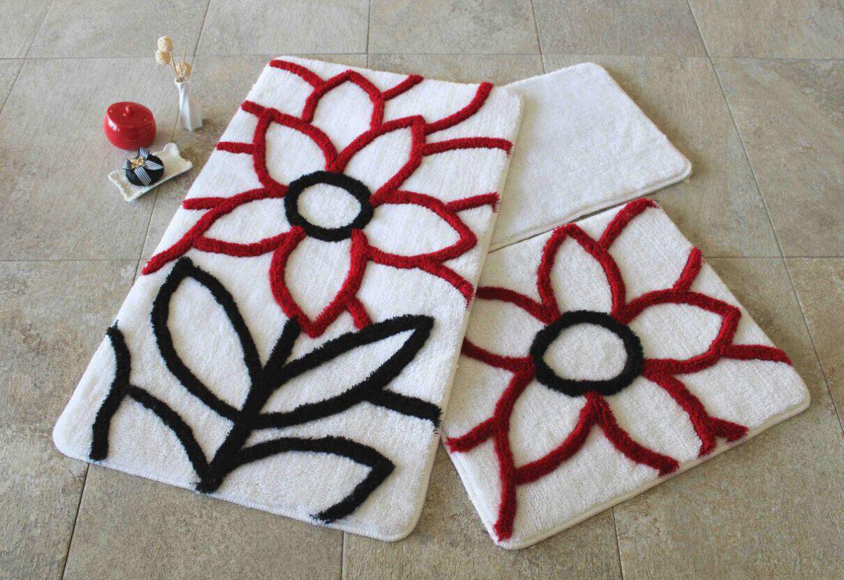 Набор ковриков 60х100, 50х60 и 40х60 в ванную комнату Alessia 1009