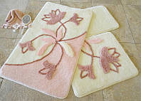 Набор ковриков 60х100, 50х60 и 40х60 в ванную комнату Alessia 1013