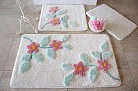 Набор ковриков 60х100, 50х60 и 40х60 в ванную комнату Alessia 1019