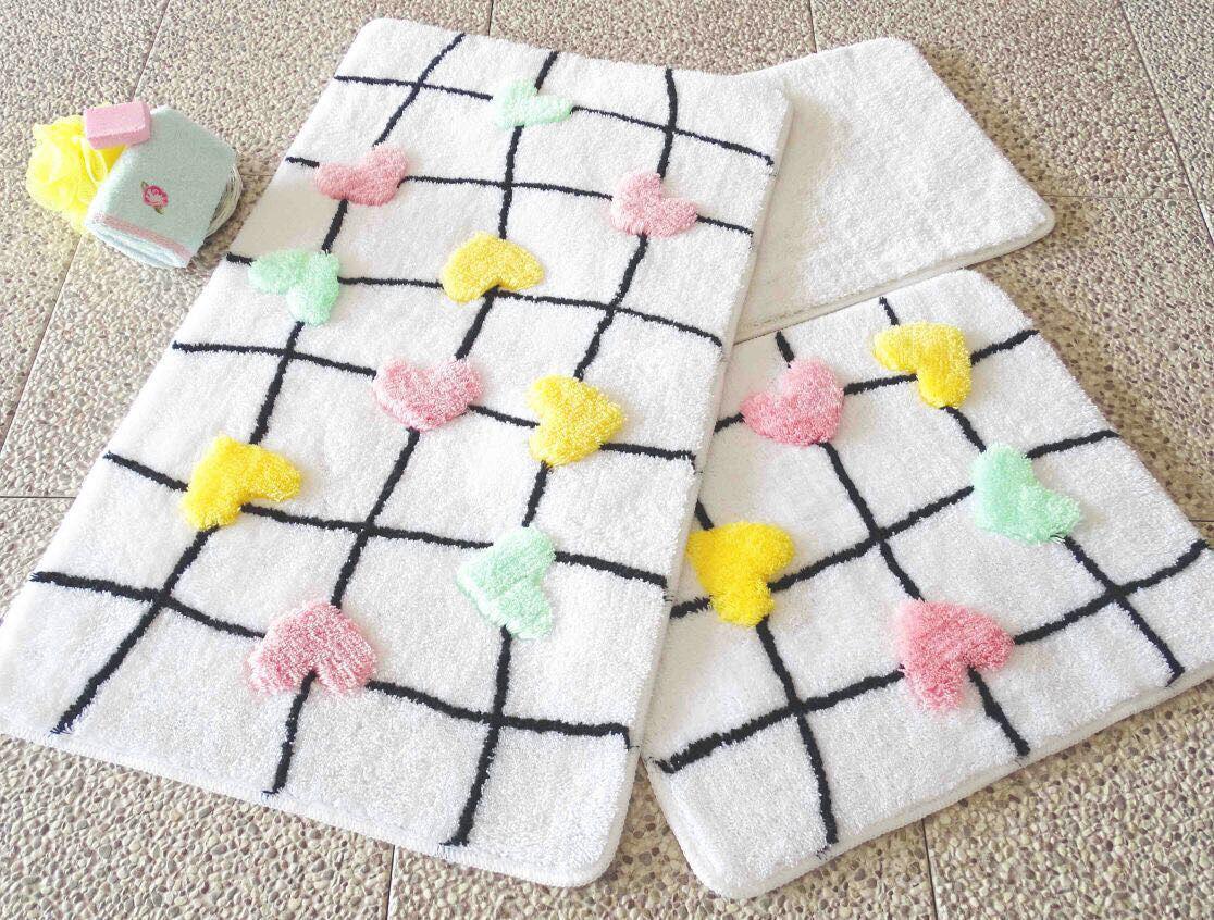 Набор ковриков 60х100, 50х60 и 40х60 в ванную комнату Alessia 1025