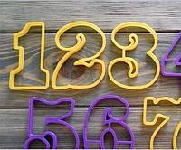 Набор вырубок для для мастики пряника цифры  3 см