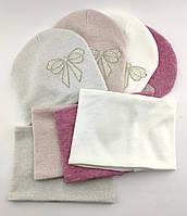 Оптом шапка детская с 52 по 58 размер хомутом ангора теплые шапки головные уборы детские опт