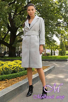 Пальто демисезонное женское с поясом (р. S, M, L) арт. Ф-79-78/43938, фото 2