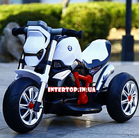 Электромотоцикл детский Bambi, M 3639-1 белый