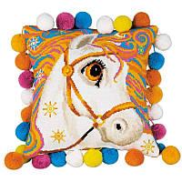 """Набор для вышивания подушки """"Златогривая лошадка"""""""