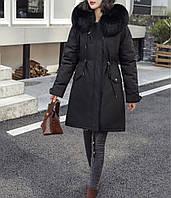 Куртка парка женская зимняя (черная)