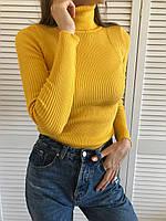 Жовтий жіночий гольф, фото 1