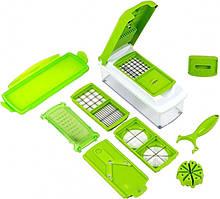 Универсальная овощерезка (мультирезка) Nicer Dicer Plus зеленая