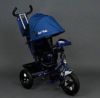 Велосипед 3-х колёс. 6588 В Best Trike Синий, Фара, Ключ зажигания
