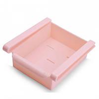 Подвесной органайзер на полку для холодильника шкафа ABX N01249 Розовый