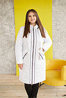 Женская зимняя теплая куртка с 234 / размер 48-68 / цвет белый