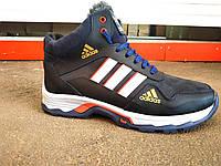 Мужские кожаные зимние ботинки Adidas 40-45 р, фото 1