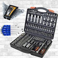 Набор инструмента 110 ед. Miol 58-100+Набор ударных отверток 6 шт Sts-6006+Набор ключей Miol 51-710