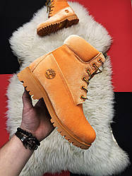 Женские ботинки Timberland Off-White демисезонные (рижый)