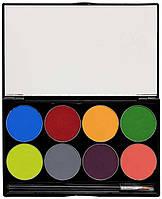 MEHRON Палитра аквагрима Makeup Paradise AQ Face & Body Paint 8 Color Palette - Tropical, 8 цветов по 7 г, фото 1