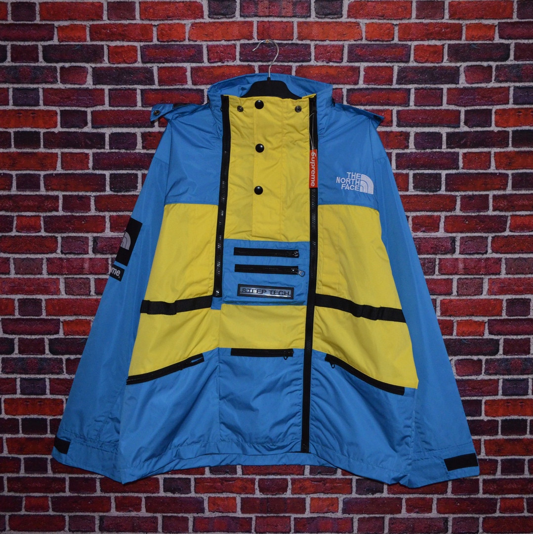 Куртка Supreme x The North Face SteepTech Blue/Yellow