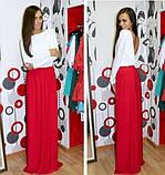 Красивое платье в пол с открытой спинкой красный, фото 4