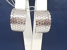 Срібні сережки Матрикс. Артикул 2977Р