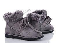 """Ботинки зимние женские """"Ailaifa"""" #AI170404-10 grey. р-р 36-41. Цвет серый. Оптом"""