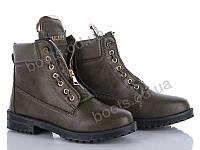 """Ботинки демисезонные женские """"Ailaifa"""" #E-5. р-р 36-41. Цвет зеленый. Оптом"""