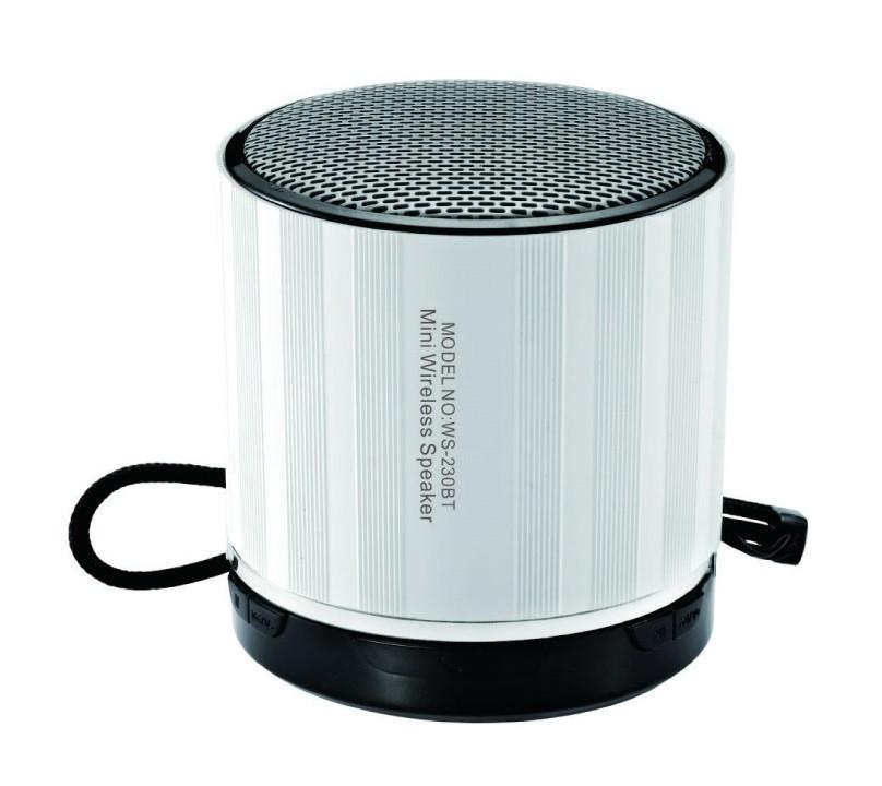 Портативная колонка со встроенным микрофоном WSTER WS-230BT Серебро