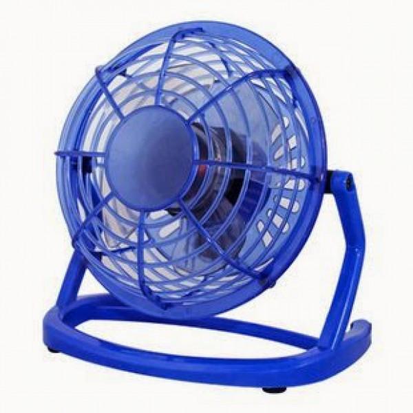 USB мини-вентилятор портативный Mini Fan CD-816 Синий