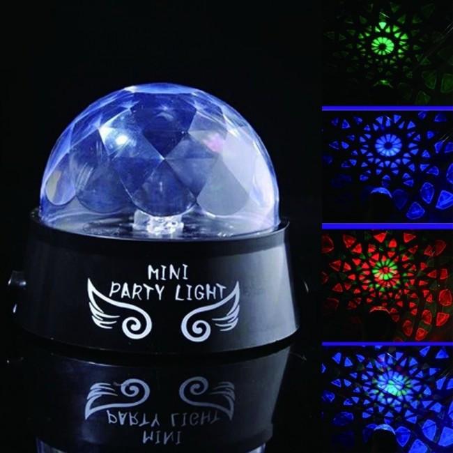Диско Шар вращающийся проектор звездного неба Mini Party Light 9 режимов