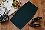 Стильная трикотажная женская юбка-карандаш миди, 7 цветов, фото 9