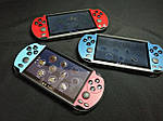 Портативная приставка Sony PSP X7 Plus Голубой + Красный 8GB / 9999 игр встроенно, фото 3