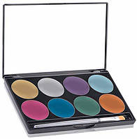 MEHRON Палитра сияющего аквагрима Makeup Paradise AQ Face & Body Paint 8 Color Palette - Brilliant, фото 1