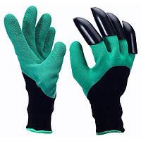 Перчатки садовые Garden Genie Gloves с пластиковыми наконечниками максимальная защита рук