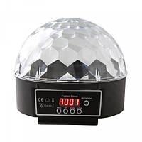 Вращающийся Диско Шар LED светодиодный с эффектом стробоскопа RGB Magic Ball Light + пульт