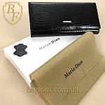 Кошелёк женский кожаный лаковый на магните Mario Dion ( 801A) разные расцветки черный, фото 3