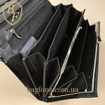 Кошелёк женский кожаный лаковый на магните Mario Dion ( 801A) разные расцветки черный, фото 4