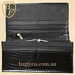 Кошелёк женский кожаный лаковый на магните Mario Dion ( 801A) разные расцветки черный, фото 6